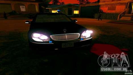 Mercedes S500 para GTA San Andreas vista interior