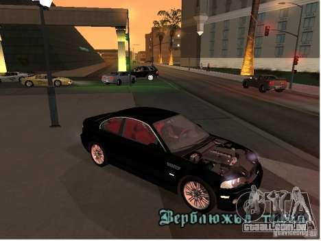 BMW M3 GT-R Stock para GTA San Andreas esquerda vista