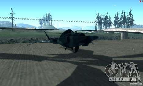 BatWing para GTA San Andreas esquerda vista