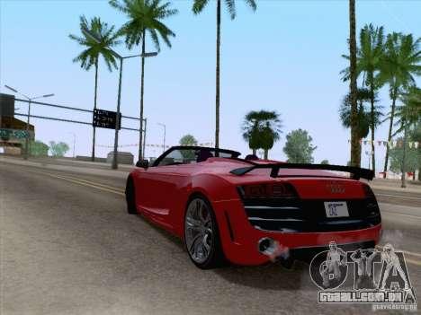 Audi R8 GT Spyder para GTA San Andreas esquerda vista