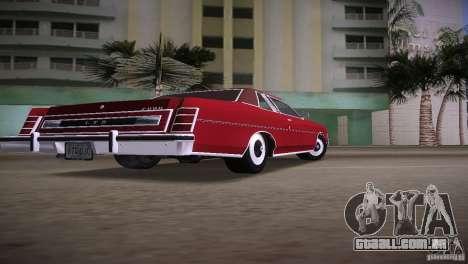 Ford LTD Brougham Coupe para GTA Vice City deixou vista