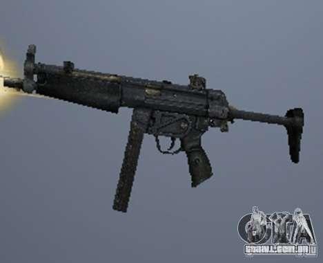 Um conjunto de armas de um stalker para GTA San Andreas quinto tela