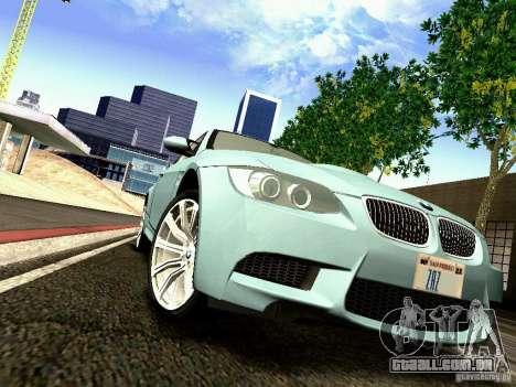 BMW M3 MotoGP SafetyCar para GTA San Andreas vista interior