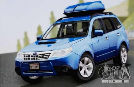 Subaru Forester XT 2008 para GTA San Andreas vista interior