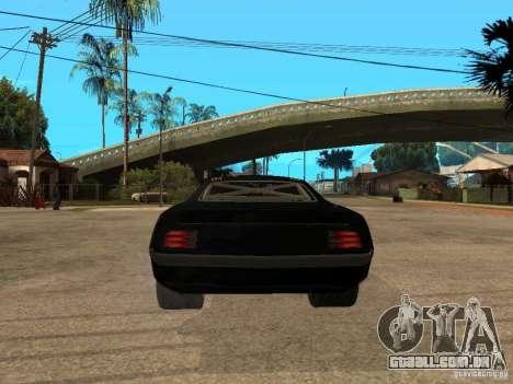 Plymouth Hemi Cuda Rogue Speed para GTA San Andreas traseira esquerda vista