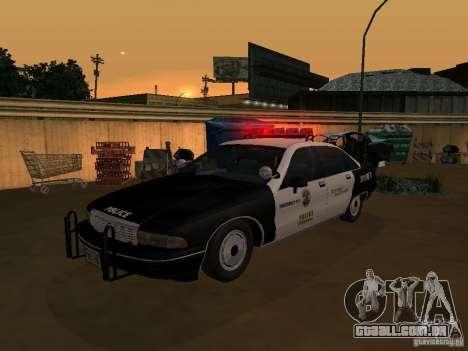 Chevrolet Caprice Police para GTA San Andreas vista direita