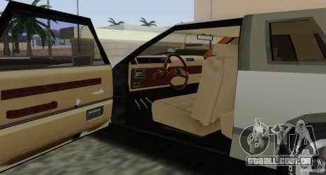 Virgo Continental para GTA San Andreas vista inferior