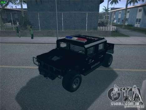 Hummer H1 1986 Police para GTA San Andreas