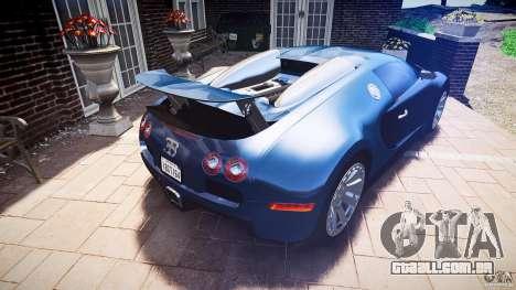 Bugatti Veyron 16.4 v3.0 2005 [EPM] Strasbourg para GTA 4 vista inferior