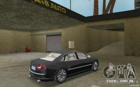 Audi A8 para GTA Vice City vista traseira