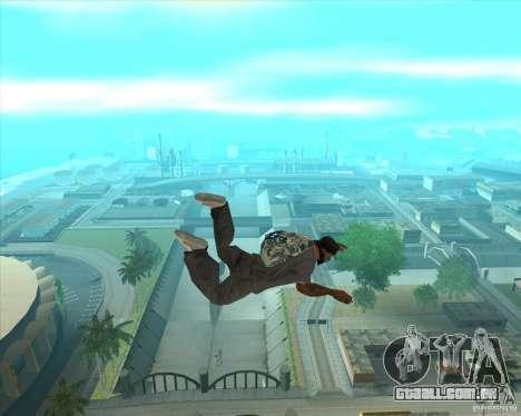Rockstar de pára-quedas (camuflagem) para GTA San Andreas terceira tela