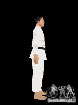 Reteksturirovannye karate para GTA San Andreas quinto tela