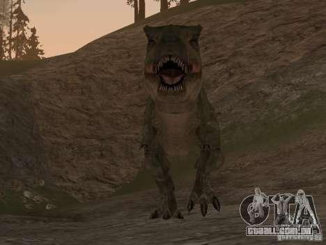 Dinosaurs Attack mod para GTA San Andreas por diante tela
