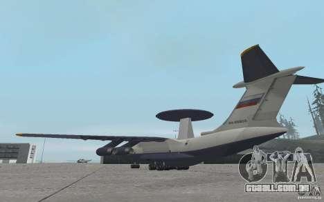 Berijew A-50 Mainstay para GTA San Andreas traseira esquerda vista