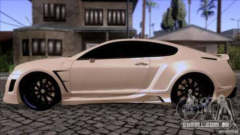 Bentley Continental GT Premier 2008 V2.0 para GTA San Andreas vista direita