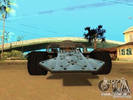 Fast & Furious 6 Flipper Car para GTA San Andreas esquerda vista