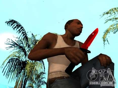 Red Chrome Weapon Pack para GTA San Andreas décima primeira imagem de tela