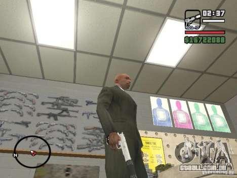 Silverballer silenciada de Hitman para GTA San Andreas terceira tela