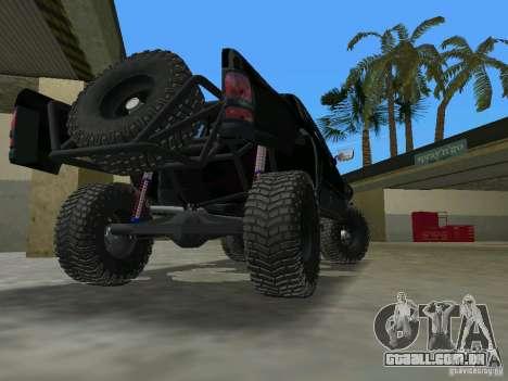Dodge Ram Prerunner para GTA Vice City vista traseira esquerda