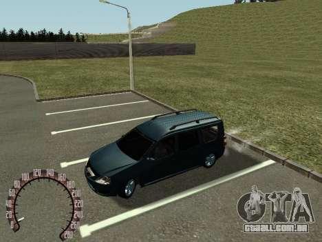 Lada Largus para GTA San Andreas esquerda vista