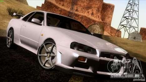 Nissan Skyline R34 Drift para GTA San Andreas