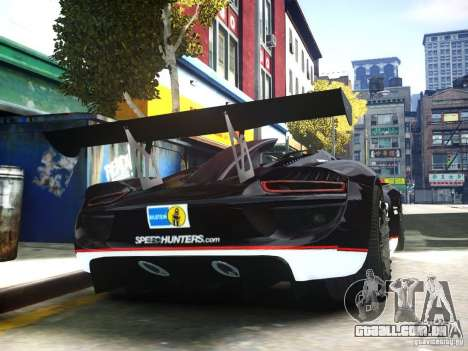 Porsche 918 Spider Body Kit Final para GTA 4 vista direita