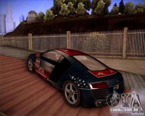 Audi R8 Shift para GTA San Andreas vista traseira