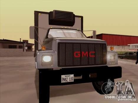 GMC Top Kick 1988 para GTA San Andreas esquerda vista
