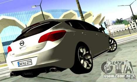 Opel Astra Senner para GTA San Andreas vista traseira