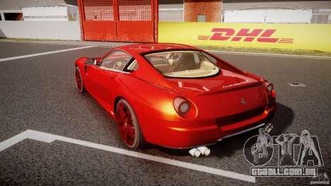 Ferrari 599 GTB Fiorano 2006 (Beta) para GTA 4 traseira esquerda vista