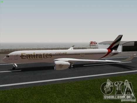 Airbus A350-900 Emirates para GTA San Andreas esquerda vista
