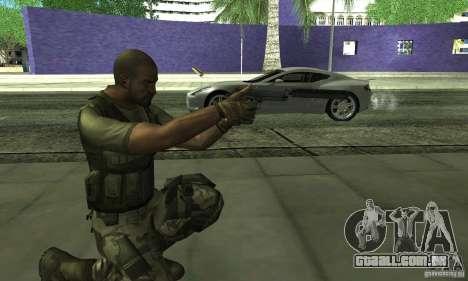 Sam Fisher Army SCDA para GTA San Andreas por diante tela
