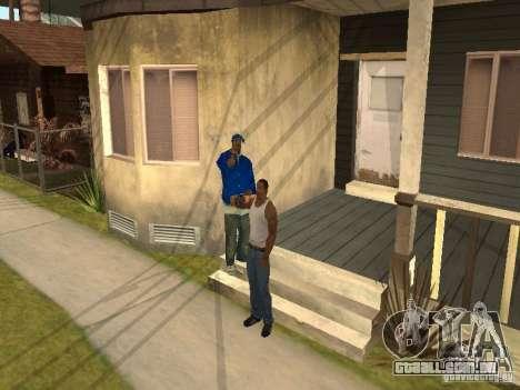 Você pode sentar, fumar, beber uísque, vômitos,  para GTA San Andreas terceira tela
