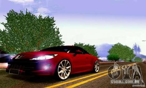 Peugeot Rcz 2011 para GTA San Andreas vista superior