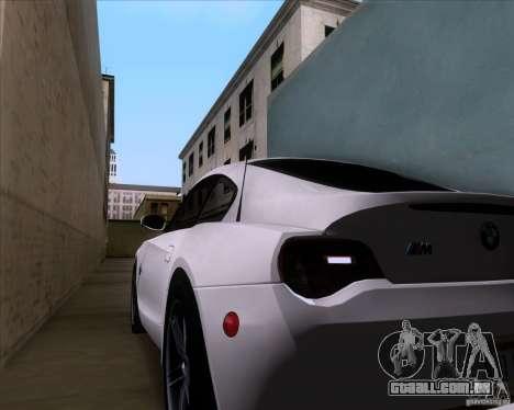 BMW Z4 M Coupe para GTA San Andreas vista superior