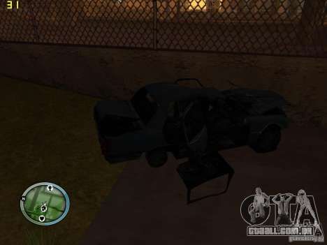 Carros quebrados na Grove Street para GTA San Andreas quinto tela