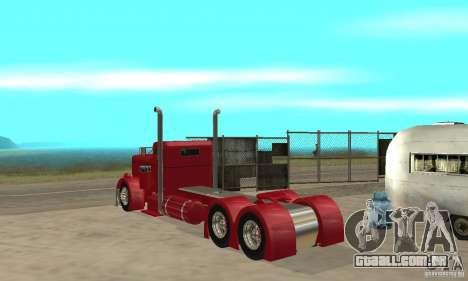 Peterbilt Coupe para GTA San Andreas vista direita
