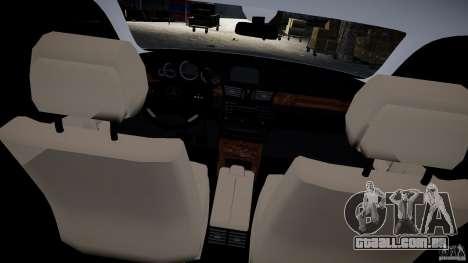 Vagão de Mercedes E-Class para GTA 4 vista interior