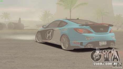 Hyundai Genesis Tunable para GTA San Andreas vista interior