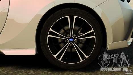 Subaru BRZ Rocket Bunny Aero Kit para GTA 4 vista interior
