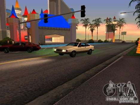 Gráficos das versões do console para GTA San Andreas segunda tela