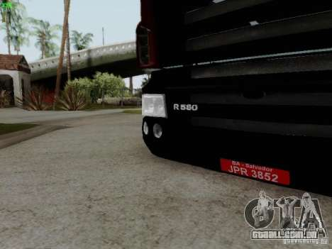 Scania R580 V8 Topline para GTA San Andreas vista interior