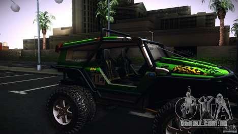 Tiger 4x4 para GTA San Andreas traseira esquerda vista