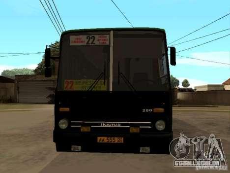 IKARUS 280 33M para GTA San Andreas traseira esquerda vista