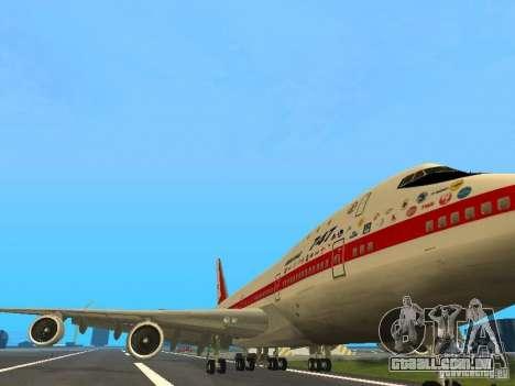 Boeing 747-100 para GTA San Andreas esquerda vista