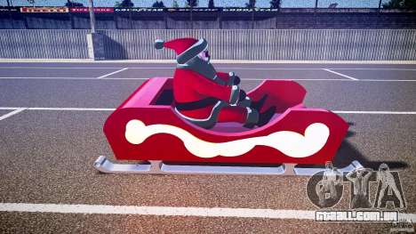 Santa Sled normal version para GTA 4 vista interior