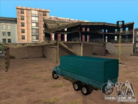 ZIL-133GÂ para GTA San Andreas vista traseira