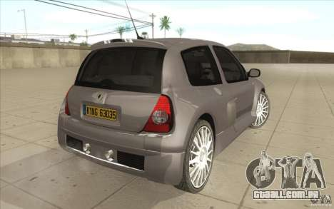 Renault Clio V6 para GTA San Andreas vista traseira