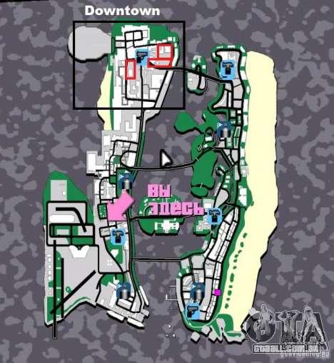 New Downtown: Hospital and scyscrap para GTA Vice City nono tela