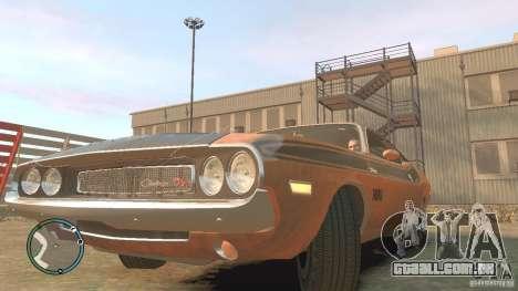 Dodge Challenger R T Hemi 1970 para GTA 4 vista direita